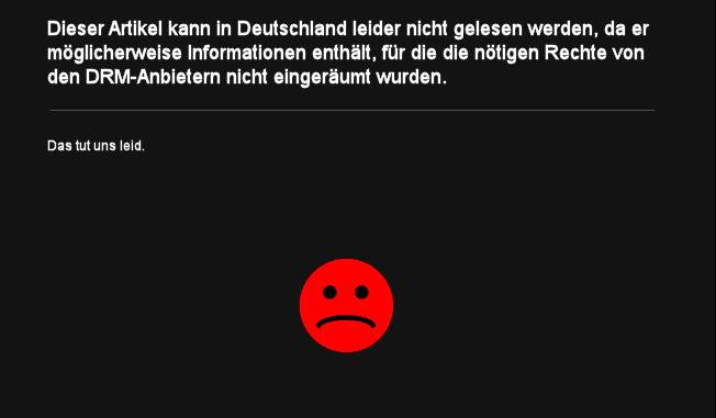 Dieser Artikel kann in Deutschland leider nicht gelesen werden, da er möglicherweise Informationen enthält, für die die nötigen Rechte von den DRM-Anbietern nicht eingeräumt wurden. Das tut uns leid.